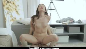 lusthd – horny russian woman gets an backdoor creampie!