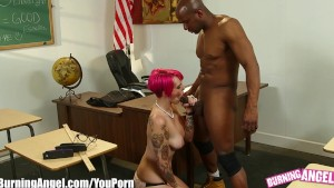 BurningAngel Punk Chick Anally Fucked By Big Black Cock