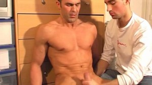 Straight guy get sucked by a guy in spite of him!