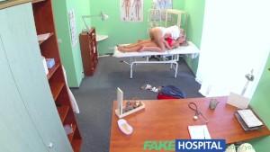 FakeHospital Naughty blonde nurse sexually seduces stunning new patient