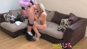 FakeAgentUK Hot wet pussy and sexual moans causes agent problems