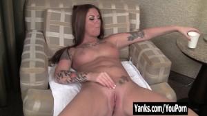 Tattooed Amateur Bella Masturbating Her Pussy