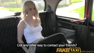 FakeTaxi Hot blonde Canadian tourist riding british drivers cock