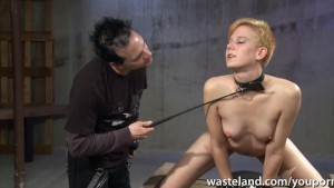 Ginger sex slave is whipped an