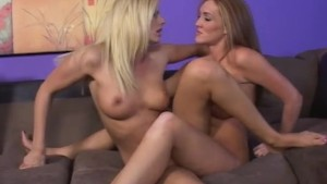 Horny Lesbians Eat Pussy On The Couch