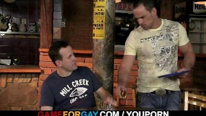 Hetero barman gets seduced by a gay