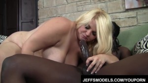 Beautiful blonde fat ass Mazzeratie Monica take black cock