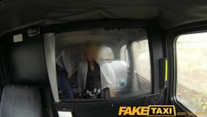 FakeTaxi Blonde milf fucks taxi driver on backseat