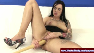 Tattooed juicy cherry sluts baseball bat