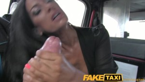 FakeTaxi Black haired milf che