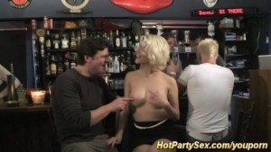 gangbang at the cocktail bar