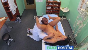 FakeHospital Doctor sexually sets patients fears to rest that her tits are too small