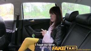 FakeTaxi Hot Asian babe banged on taxi backseat
