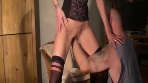 Skinny amateur wife fisted in