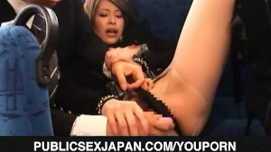 Saki Ootsuka gets doggy fuck in bus trip