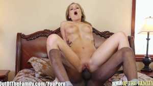 Horny Babe Rides Her Step-Dads Big-Black-Cock