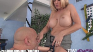 StrapAttackers Busty MILF Anal Pegs Guy
