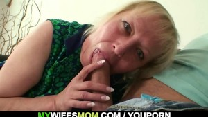 Cheating sex with busty mother-in-law