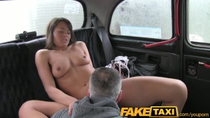 FakeTaxi Hairy brunette has sex with taxi driver