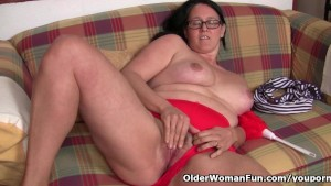 Chubby mature housewife with h