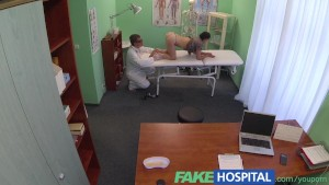 FakeHospital Dirty doctor gives sexy student patient the all clear in exchange for sex