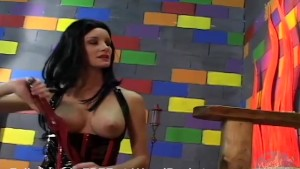 Sexy fetish model is rough on his cock