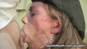 Hot Whore MILF Taylor Ash Sucks Fucks 3 Dudes for a Messy Facial