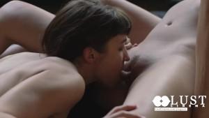 LUST CINEMA Maiden Lesbian in Intense Threesome