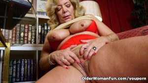 Grandma s soaked pussy needs a