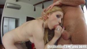 Ass Traffic Blonde swallows cu