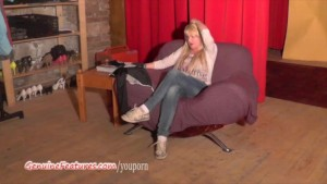 Wild czech MILF shows her big boobs at the CASTING