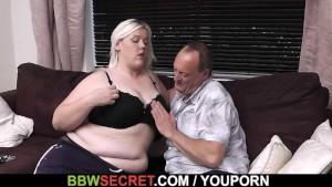 Bbw sucks and rides cheating husband meat
