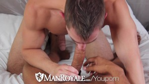 HD ManRoyale - Sexy guy comes hard when fucked