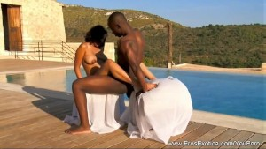 Exotic Ebony Couple ignore The