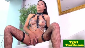 Asian tgirl Melissa shows kink