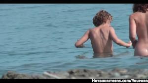 Shaved Pussy Nudist Females Voyeur HD beach