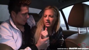 Bitch STOP - Very sexy blonde get fucked in the back seat