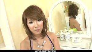 Big tits, Akiho Nishimura, swallows after garsh sex