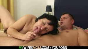 Mother in law jumps on his cock