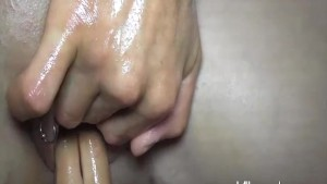 Horny blond amateur slut fisted by multiple men