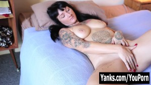 Tattooed Monte Rubbing Her Pus