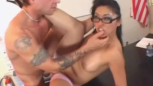 Asian MILF ass-licking and fuck