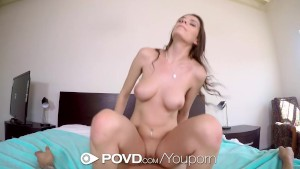 Debbie Clark gets her pink drenched pussy fucked - POVD