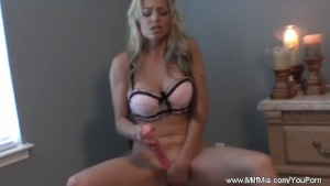 Blonde MILF On Her Chair