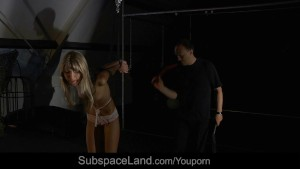Slender, sexy slave rough slapped and disciplined