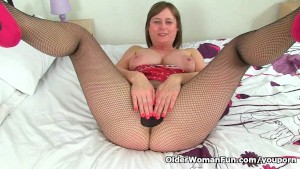 British milf April rips her ti