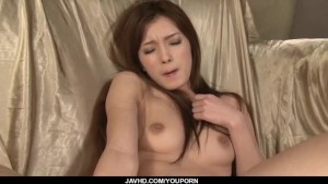 Perky tits Mei Haruka shows off while masturbating