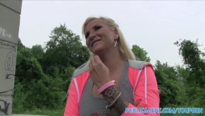 PublicAgent Slutty looking blonde with big boobs fucking outdoors