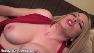 Maggie Green Shows Off Her Dangerous Curves & Glass Toy!