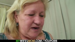 Chubby mother inlaw lures him